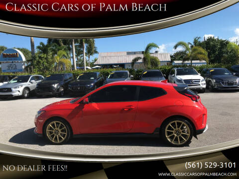 2019 Hyundai Veloster for sale at Classic Cars of Palm Beach in Jupiter FL