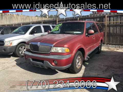 1998 Lincoln Navigator for sale at J D USED AUTO SALES INC in Doraville GA