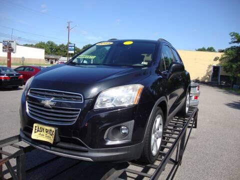 2015 Chevrolet Trax for sale at Easy Ride Auto Sales Inc in Chester VA