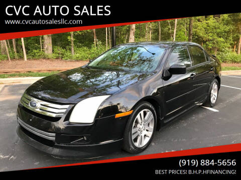 2007 Ford Fusion for sale at CVC AUTO SALES in Durham NC