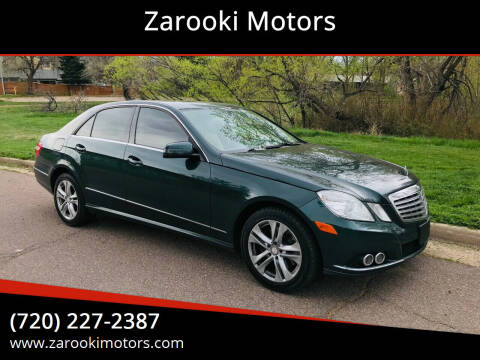 2010 Mercedes-Benz E-Class for sale at Zarooki Motors in Englewood CO