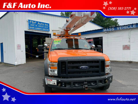 2008 Ford F-550 Super Duty for sale at F&F Auto Inc. in West Bridgewater MA