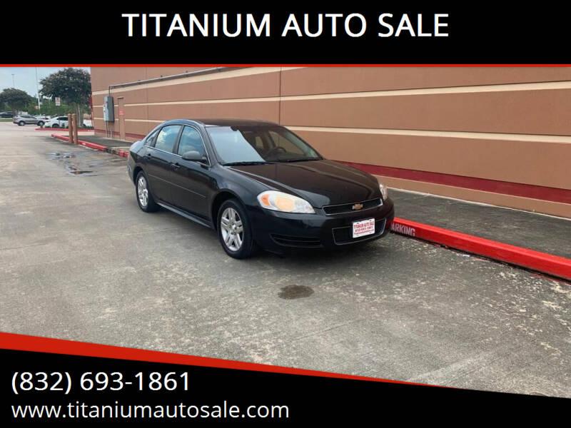 2012 Chevrolet Impala for sale at TITANIUM AUTO SALE in Houston TX