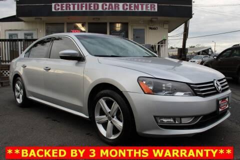 2015 Volkswagen Passat for sale at CERTIFIED CAR CENTER in Fairfax VA