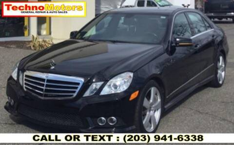 2010 Mercedes-Benz E-Class for sale at Techno Motors in Danbury CT