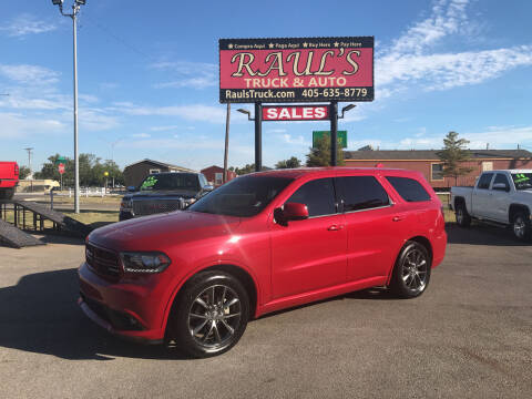 2016 Dodge Durango for sale at RAUL'S TRUCK & AUTO SALES, INC in Oklahoma City OK