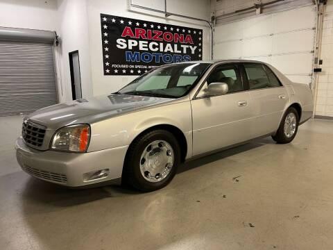 2002 Cadillac DeVille for sale at Arizona Specialty Motors in Tempe AZ