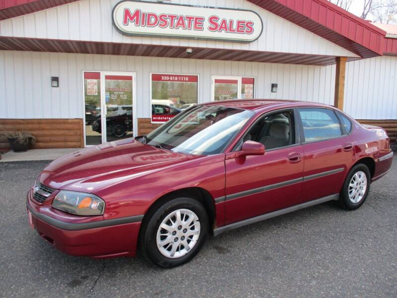 2005 Chevrolet Impala for sale at Midstate Sales in Foley MN