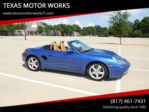 2002 Porsche Boxster for sale at TEXAS MOTOR WORKS in Arlington TX
