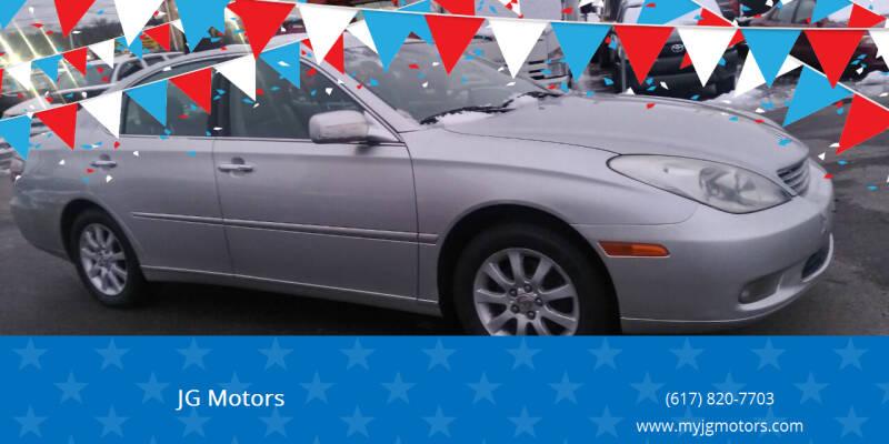 2002 Lexus ES 300 for sale at JG Motors in Worcester MA