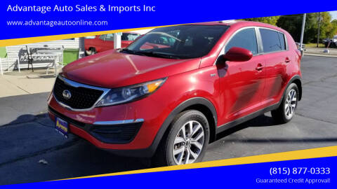 2014 Kia Sportage for sale at Advantage Auto Sales & Imports Inc in Loves Park IL
