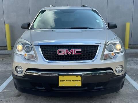 2008 GMC Acadia for sale at Delta Auto Alliance in Houston TX