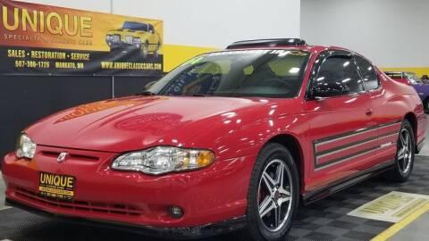 2004 Chevrolet Monte Carlo for sale at UNIQUE SPECIALTY & CLASSICS in Mankato MN