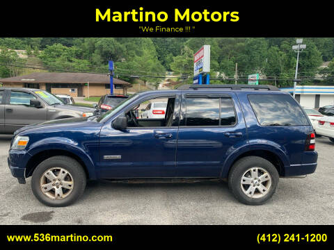 2008 Ford Explorer for sale at Martino Motors in Pittsburgh PA