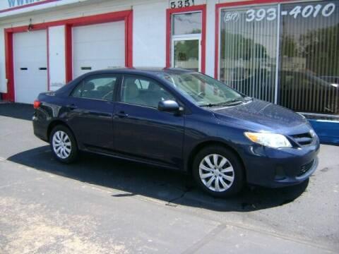 2012 Toyota Corolla for sale at Cedar Auto Sales in Lansing MI
