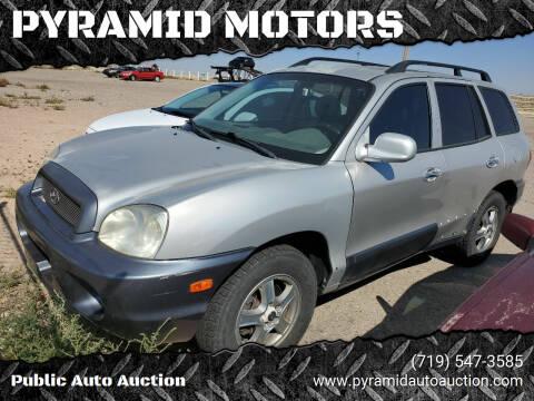 2003 Hyundai Santa Fe for sale at PYRAMID MOTORS - Pueblo Lot in Pueblo CO