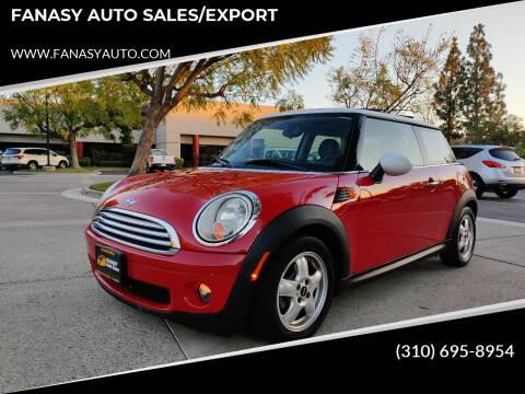 2010 MINI Cooper for sale at FANASY AUTO SALES/EXPORT in Yorba Linda CA