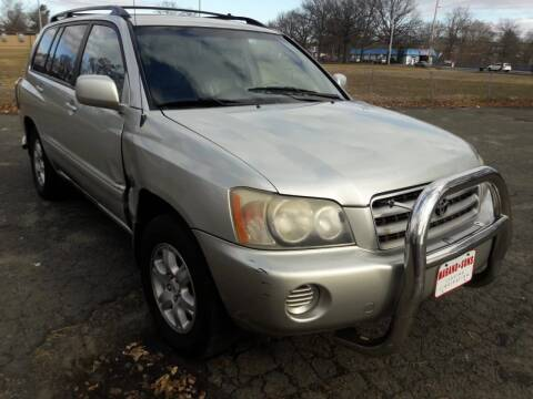2003 Toyota Highlander for sale at Shah Motors LLC in Paterson NJ
