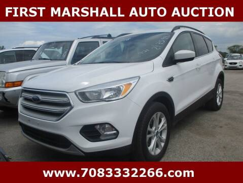 2018 Ford Escape for sale at First Marshall Auto Auction in Harvey IL