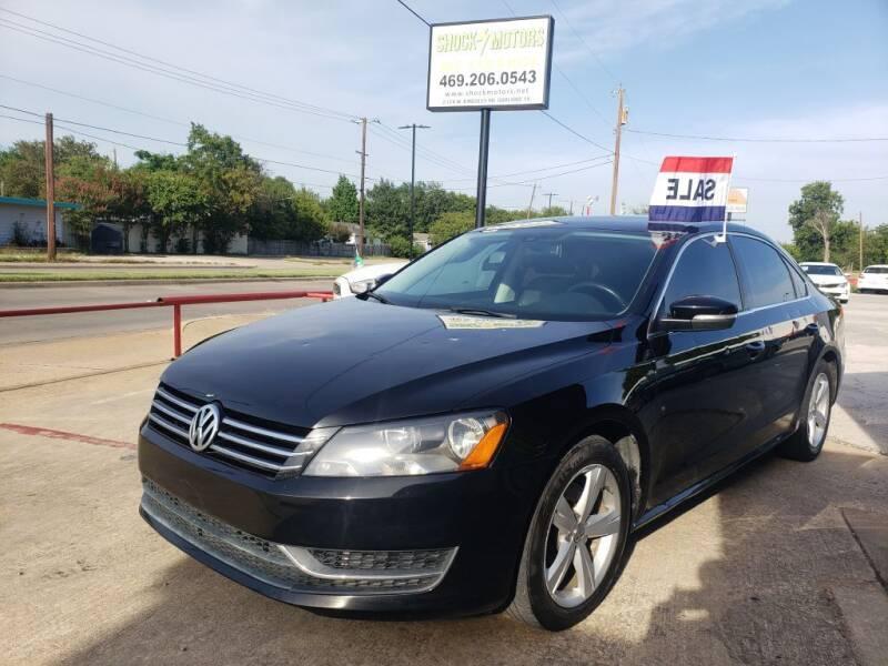 2014 Volkswagen Passat for sale at Shock Motors in Garland TX