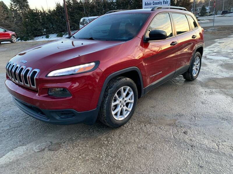 2015 Jeep Cherokee for sale at GREENFIELD AUTO SALES in Greenfield IA