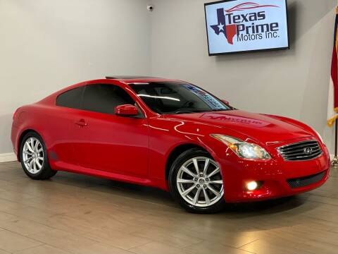 2012 Infiniti G37 Coupe for sale at Texas Prime Motors in Houston TX