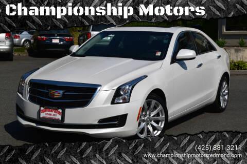 2017 Cadillac ATS for sale at Championship Motors in Redmond WA