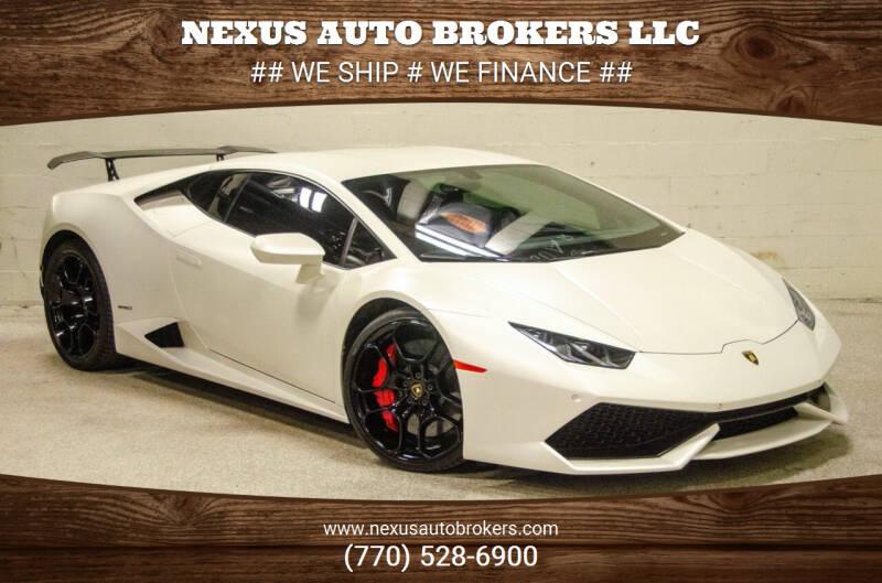 2015 Lamborghini Huracan for sale at Nexus Auto Brokers LLC in Marietta GA