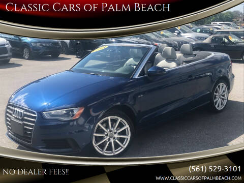 2015 Audi A3 for sale at Classic Cars of Palm Beach in Jupiter FL