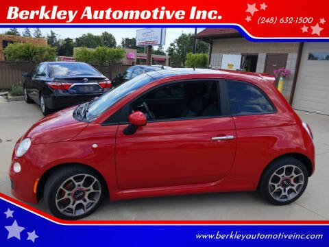 2012 FIAT 500 for sale at Berkley Automotive Inc. in Berkley MI