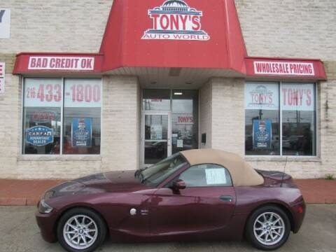 2003 BMW Z4 for sale at Tony's Auto World in Cleveland OH