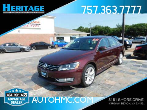 2014 Volkswagen Passat for sale at Heritage Motor Company in Virginia Beach VA