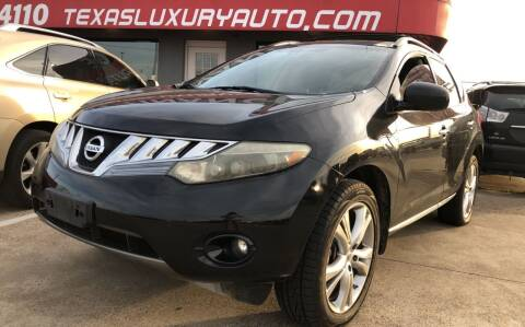 2009 Nissan Murano for sale at Texas Luxury Auto in Cedar Hill TX