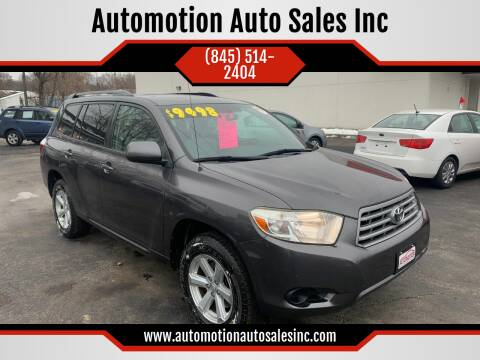 2009 Toyota Highlander for sale at Automotion Auto Sales Inc in Kingston NY