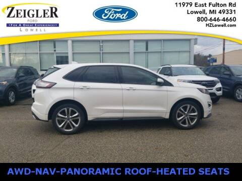 2017 Ford Edge for sale at Zeigler Ford of Plainwell- Jeff Bishop in Plainwell MI