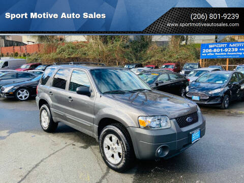 2005 Ford Escape for sale at Sport Motive Auto Sales in Seattle WA