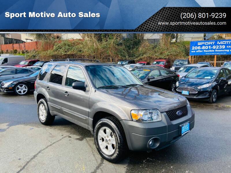 2005 Ford Escape for sale at Sport Motive Auto Sales in Seattle WA