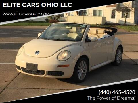 2008 Volkswagen New Beetle Convertible for sale at ELITE CARS OHIO LLC in Solon OH
