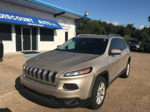 2015 Jeep Cherokee for sale at Discount Auto Company in Houston TX