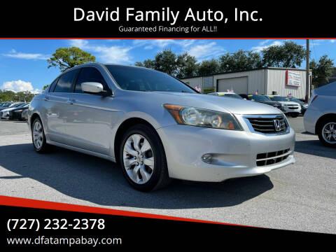 2009 Honda Accord for sale at David Family Auto, Inc. in New Port Richey FL