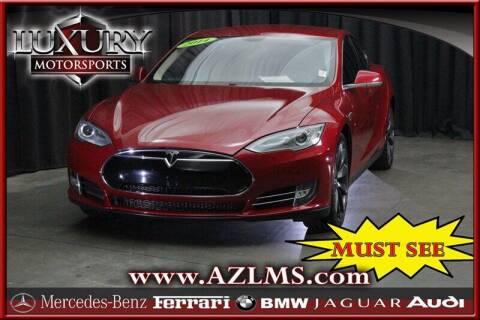 2014 Tesla Model S for sale at Luxury Motorsports in Phoenix AZ