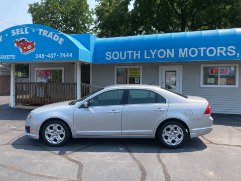 2010 Ford Fusion for sale at South Lyon Motors INC in South Lyon MI