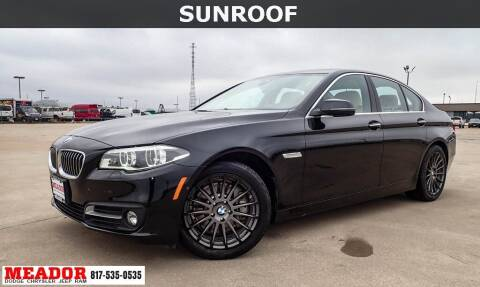 2016 BMW 5 Series for sale at Meador Dodge Chrysler Jeep RAM in Fort Worth TX