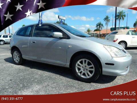 2002 Honda Civic for sale at Cars Plus in Sarasota FL