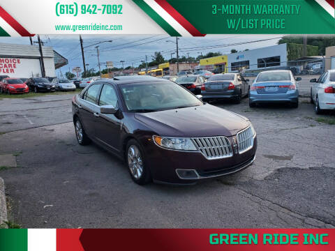 2012 Lincoln MKZ for sale at Green Ride Inc in Nashville TN