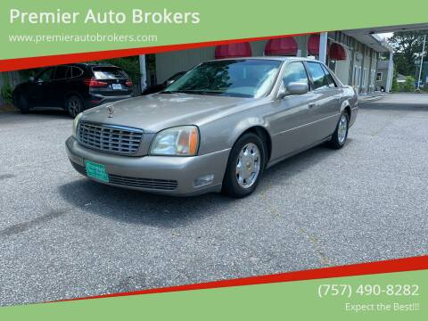 2002 Cadillac DeVille for sale at Premier Auto Brokers in Virginia Beach VA