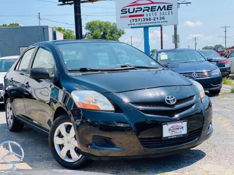 2007 Toyota Yaris for sale at Supreme Auto Sales in Chesapeake VA
