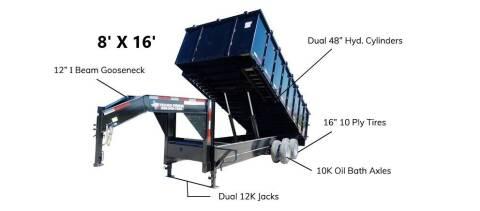 2021 TEXAS PRIDE 8' X 16' Gooseneck 22K for sale at Montgomery Trailer Sales - Texas Pride in Conroe TX
