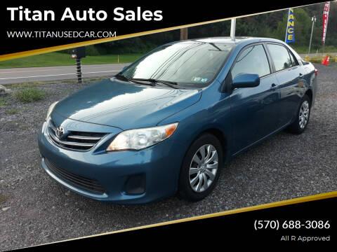 2013 Toyota Corolla for sale at Titan Auto Sales in Berwick PA