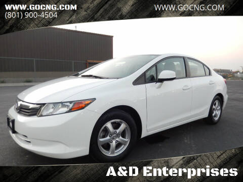 2012 Honda Civic for sale at A&D Enterprises in Spanish Fork UT